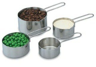Vollrath (47119) 4-Piece Stainless Steel Measuring Cup Set