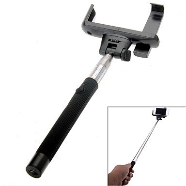 Ty Wireless Bluetooth Mobile Phone Monopod For Ios Android Phones , Black