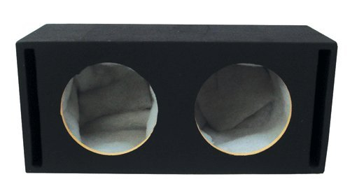 Absolute Usa Vegd10 Dual 10-Inch Slot Ported Subwoofer Enclosure, 3/4-Inch Mdf