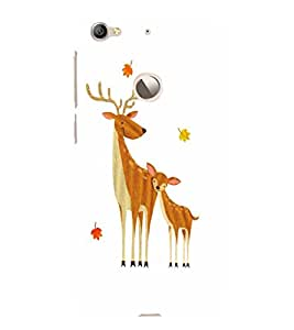 EPICCASE Deer Love Mobile Back Case Cover For LeEco Le 1s Eco (Designer Case)
