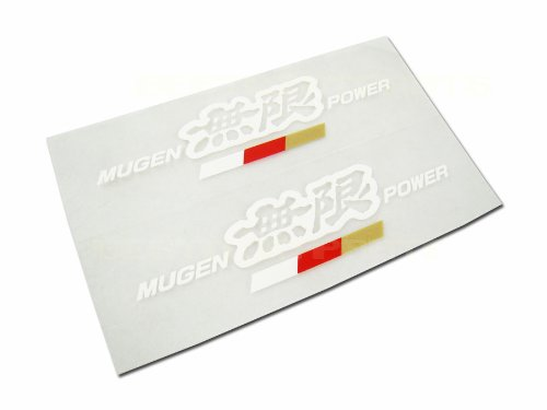 4 Inch JDM Mugen Power Decal Stickers - White