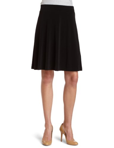 Calvin Klein Women's Matte Jersey A-Line Skirt,Black,Small