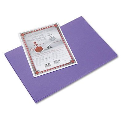 Riverside Paper Groundwood Construction Paper, 12in. x 18in., Violet - 1
