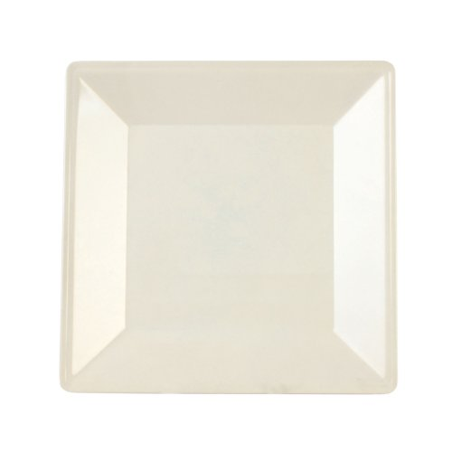 Excellanté Royal Pearl Collection 10-1/4 By 10-1/4-Inch Square Plate, 1-3/4-Inch Deep, Royal Pearl