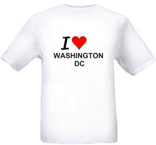 I LOVE WASHINGTON DC - City-series - White T-shirt наборы декоративной косметики poeteq промо набор 3 гель лака матовый тинт для губ