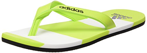 adidas Eezay Striped, Infradito uomo, Multicolore Verde / Negro / Blanco (Seliso / Negbas / Ftwbla), 43 EU