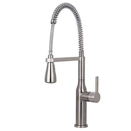 Miseno MK500 Arliano Commercial Style Pre-Rinse Kitchen Faucet, Stainless Steel