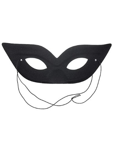 Harlequin Black Eye Mask