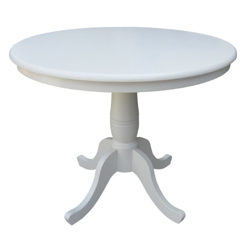 Round By 30 Inch High Top Ped Table Linen White January 12th 2013