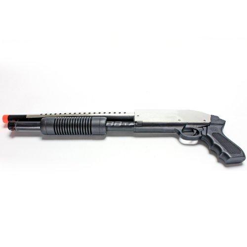 BBTac 688S Airsoft Shotgun Pump Action Spring Powered Airsoft Gun (Silver) by BBTac®