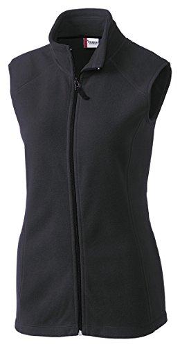 Clique Lqo00017 Womens Summit Lady Full Zip Microfleece Vest, Charcoal-L front-1054985