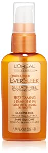 L'Oreal Paris EverSleek Sulfate-Free Smoothing System Frizz Taming Creme Serum, 1.9 Fluid Ounce