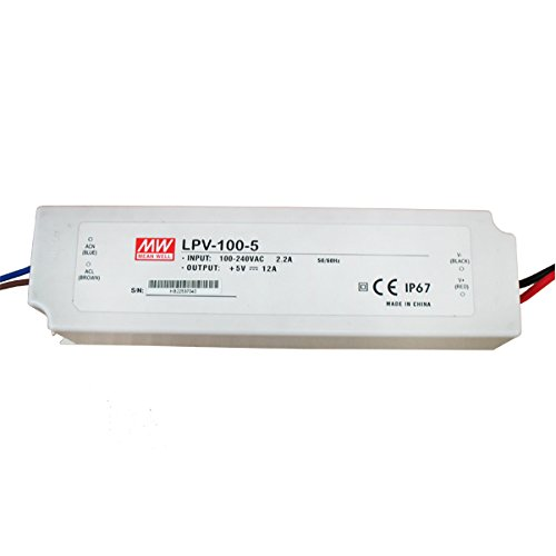 Mean Well Lpv-100-5 100W 5V 12A Power Supply Led Driver Water & Dust-Proof
