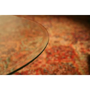 16u2033 Round Glass Table Top 1/2u2033 Thick 1u2033 Beveled Edge