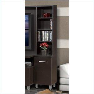 Image of Nexera Nexera Element Tall Bookcase Audio Tower in Espresso (B005MNGLHG)