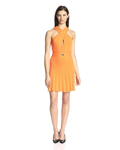 Versace Collection Women's Halter Open Back Dress
