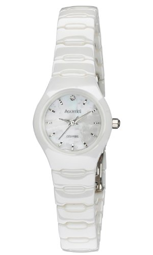 Accurist Ladies White Ceramic Case and Bracelet Watch LB1671W