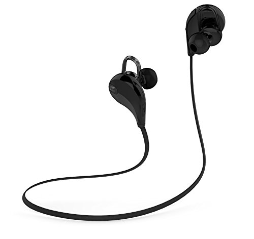 Soundpeats Qy7 V4.1 Bluetooth Mini Lightweight Wireless Stereo Sports/running & Gym/exercise Bluetooth Earbuds Headphones Headsets W/microphone for Iphone 5s 5c 4s 4, Ipad 2 3 4 New Ipad, Ipod, Android, Samsung Galaxy, Smart Phones Bluetooth Devices (Black/black)