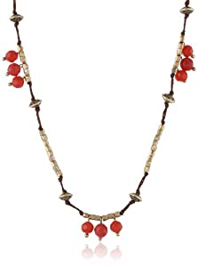 Lucky Brand Carnelian Colored Beaded Strand Necklace, 30""