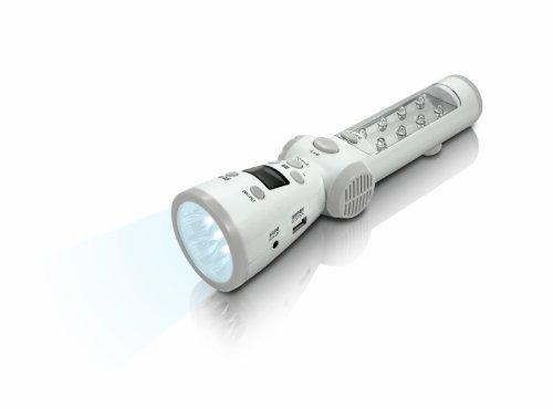 グラピカ+緊急地震速報/緊急警報放送連動ラジオ(AM/FM)懐中電灯+携帯やスマホ充電可能 JF-ERL1W