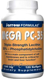 Mega PC-35 (Lecithin) 1200 mg 120 gel by Jarrow Formulas
