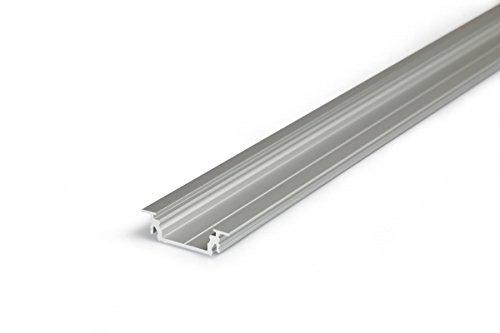 2m einbau aluprofil groove14 gr14 2 meter aluminium profil leiste eloxiert f r led streifen. Black Bedroom Furniture Sets. Home Design Ideas