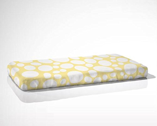 aBaby Organic Riverbed Fitted Crib Sheet, Daffodil - 1