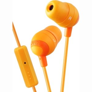 Jvc Hafx32A Marshmallow Earbuds With Mic, Orange