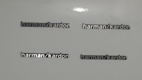 4Pcs Harman/Kardon Hi-Fi Speaker Metal Aluminum Logo Emblem Badge Auto Car Usa