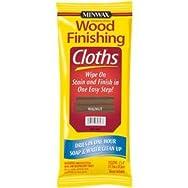 Minwax 308230000 Minwax Wood Stain & Finish Wipes-WALNUT WIPE STAIN CLOTH