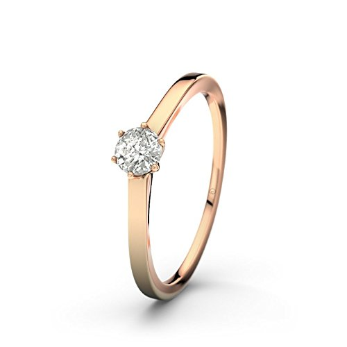21DIAMONDS Women's Ring Banff 0.2 ct Brilliant Cut Diamond Engagement Ring 14ct Rose Gold Engagement Ring