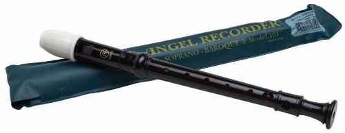 Angel 101 Soprano Recorder, Key of C, Black (Good Choices Chart compare prices)