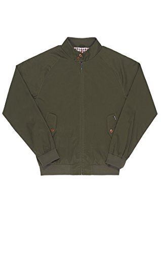 ben-sherman-cotton-harrington-vestes-homme-grun-dark-d66-medium