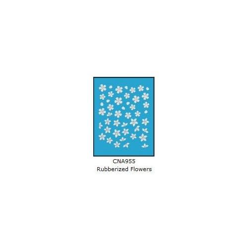 L.A. Colors 3D Nail Art Stickers #955 Rubberized Flowers
