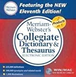 img - for Merriam-Webster's Collegiate Dictionary & Thesaurus, Electronic Edition by Inc Merriam-Webster (2003-11-01) book / textbook / text book