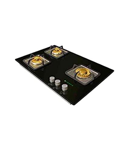 Faber Crystal 65 SP-HGG 653 CRS BR C I Built In Hob Gas Cooktop (3 Burner)