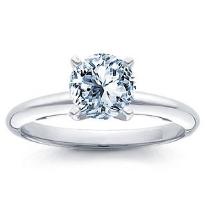 0.56 Carat H/VS1 Round Certified Diamond Solitaire Engagement Ring in 18ct Solid White Gold