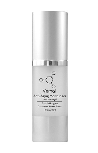 Vernal Anti Aging Moisturizer Cream, All In One With Tetrapeptides & Vitamin C, Best Anti Aging Cream, Best Anti-Wrinkle...