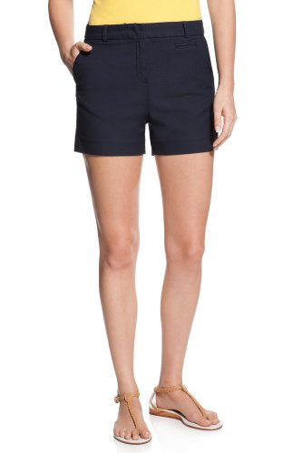 High Waisted Stretch Gab Short With Pique Stitch