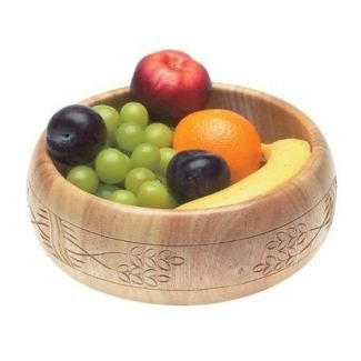Hand Carved Wooden Fruit Bowl