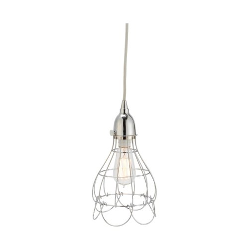 Gilded Barn Silver Wire Rose Pendant Light