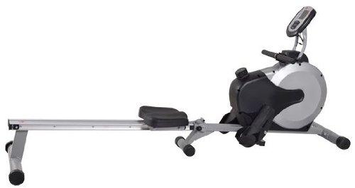 AsVIVA RA11 Rudergerät Ergometer Rower Cardio XI – Heimtrainer/Fitnessgerät inkl. Fitnesscomputer und Pulsempfänger für das Workout, schwarz/grau