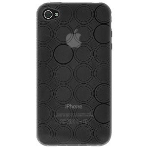 Amzer® Circle TPU Skin Case for iPhone 4/4S - Smoke