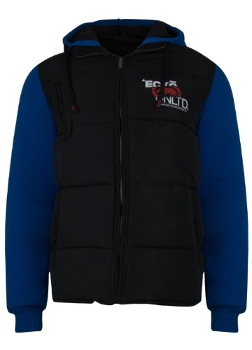 Mens Ecko Unltd 'Veyron' Padded Bodywarmer Jacket Black & Princess Blue. Size small