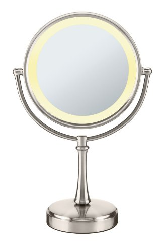 Conair Touch Control Double Sided Lighted Mirror Satin