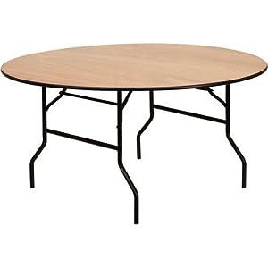 "Round Folding Table Size: 60"" Dia, Quantity: Set of 10"