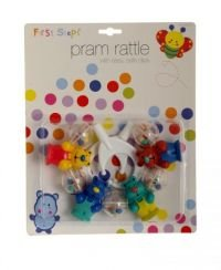 First Steps Pram Rattles Teddy Bears
