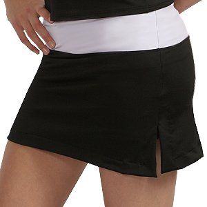 Drop Waist Tennis Skirt with Slits and Shorts