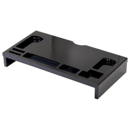 クロシオ パソコンデスク用 モニタースタンド ブラック
