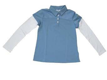 Nike Golf Layered Polo (Little Kids big Kids) Work Blue by Nike